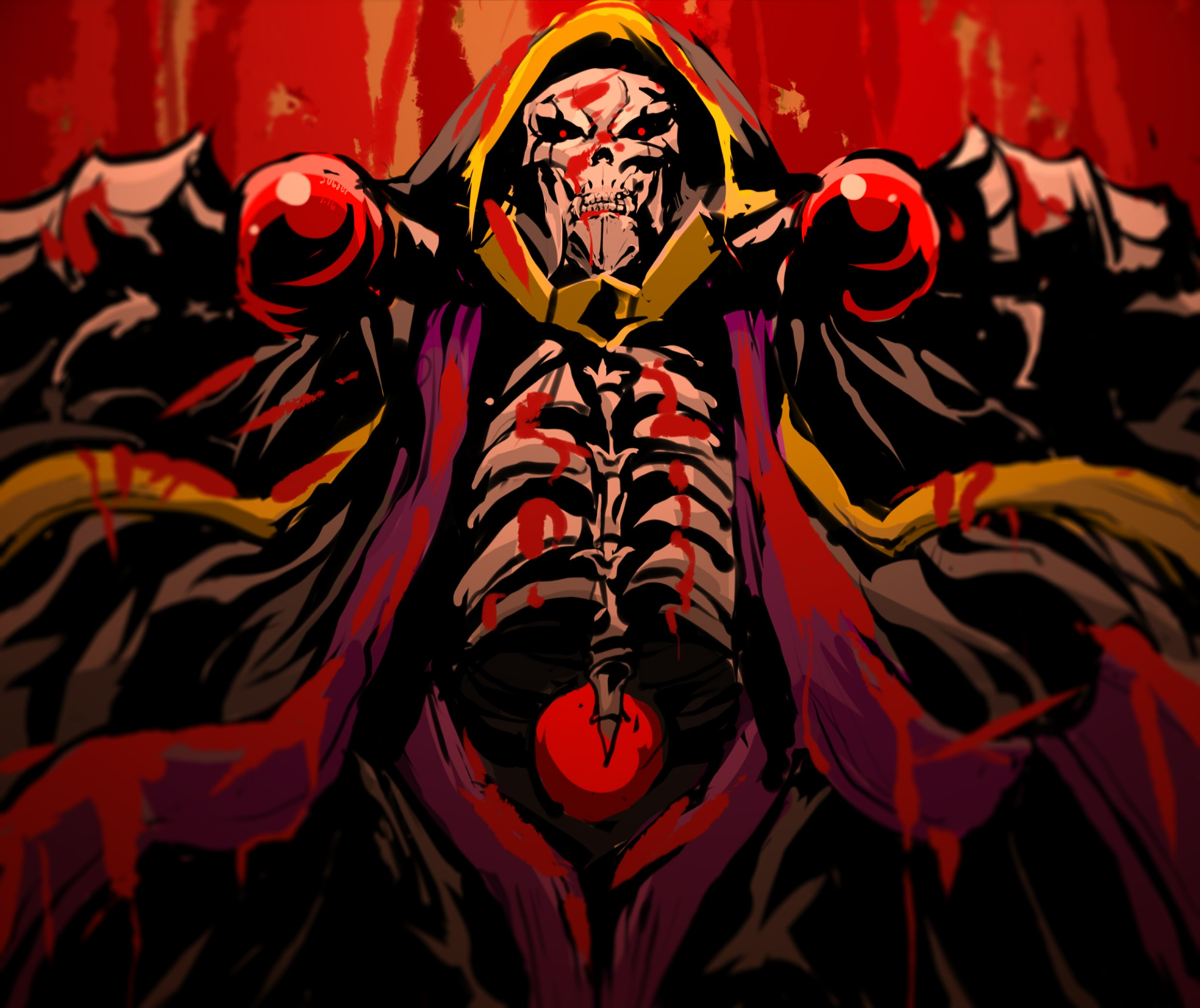 Overlord Art Ainz Ooal Gown 1545792 Hd Wallpaper Backgrounds Download