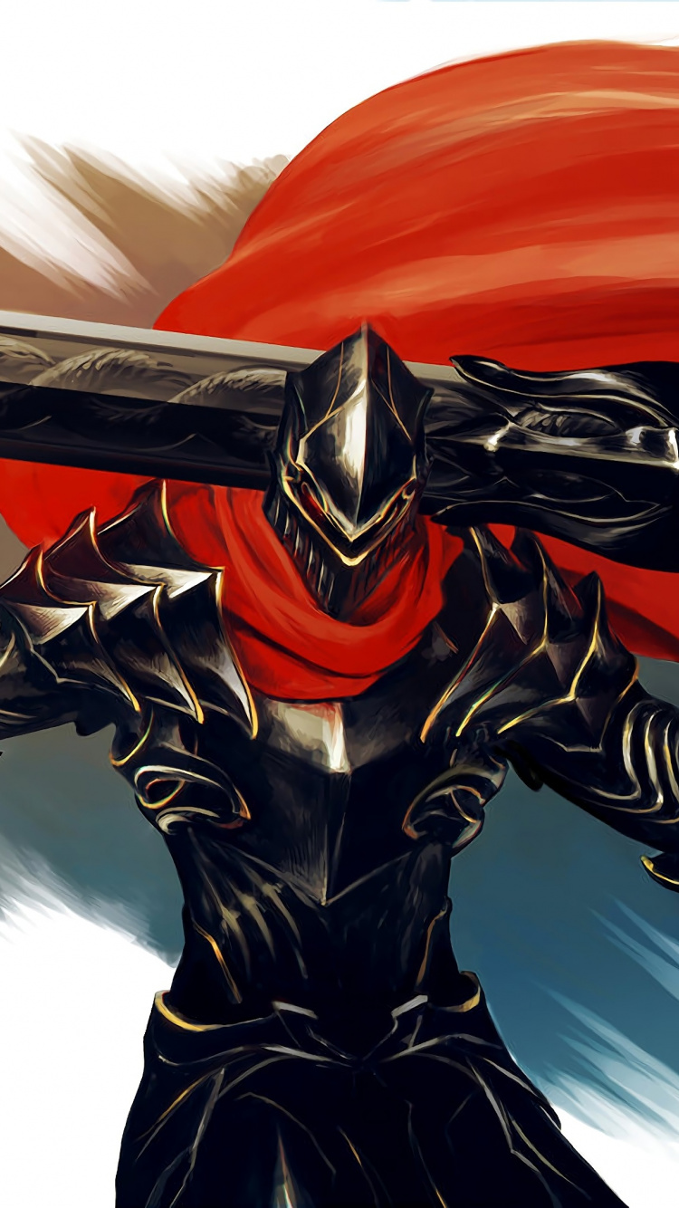 Animax Cartoon Wallpaper armour, big sword, warrior, overlord, anime, art, wallpaper