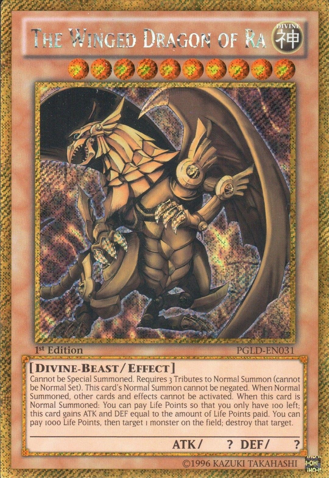 Pgld En032 Slifer The Sky Dragon Pgld En033 Dark Magician