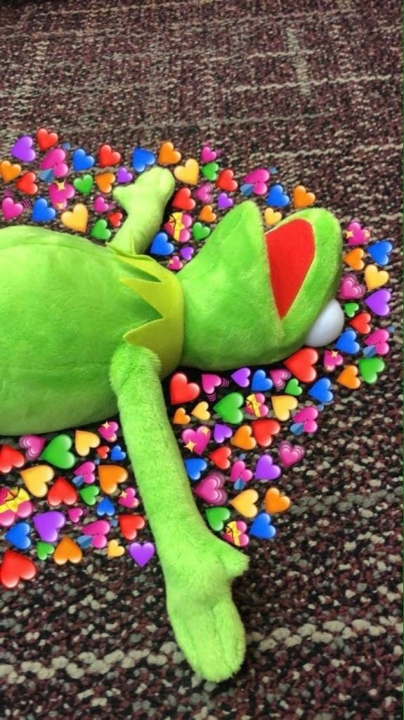 #bts #heart #kalp #kermit - Frog Kermit Heart Meme , HD Wallpaper & Backgrounds