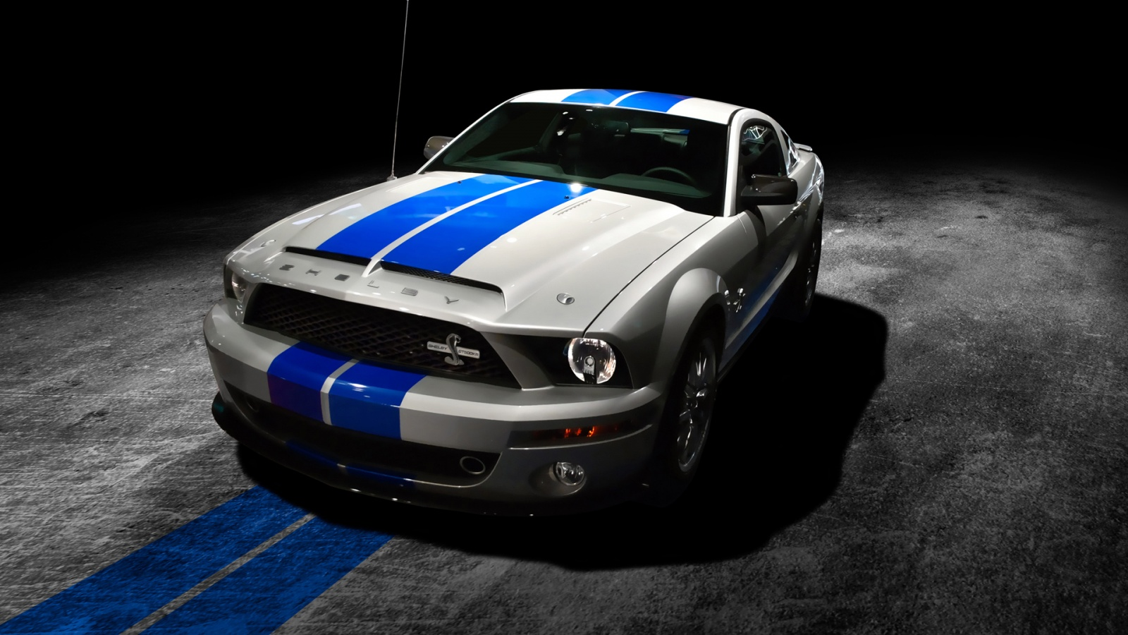 Hd Wallpapers For Desk1600x900 Grey Mustang Blue Stripes 1554546 Hd Wallpaper Backgrounds Download