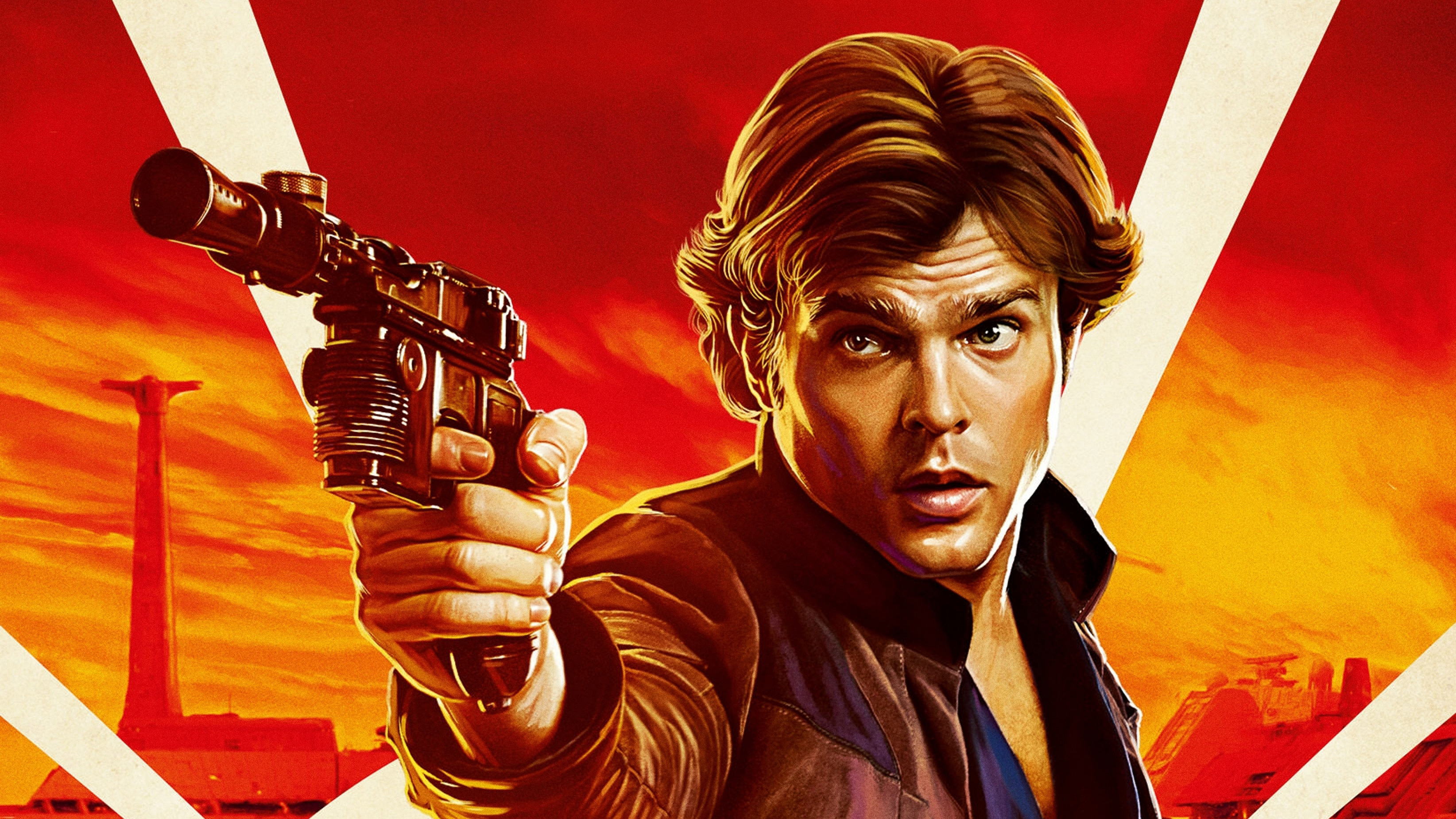 Han Solo In Solo A Star Wars Story Movie - Solo A Star Wars Story , HD Wallpaper & Backgrounds