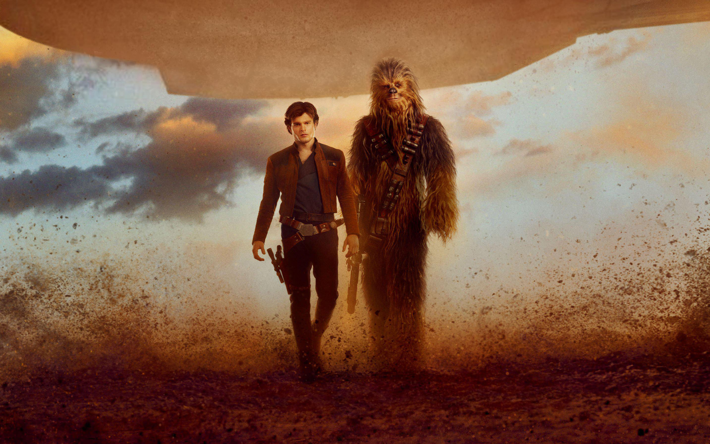 Solo A Star Wars Story Han Solo Chewbacca - Solo A Star Wars Story , HD Wallpaper & Backgrounds