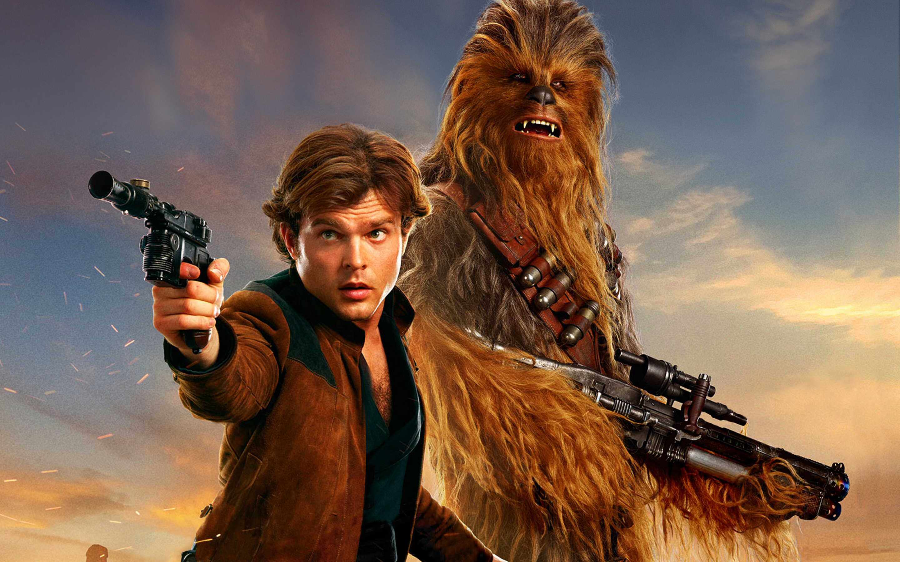 Han Solo & Chewbacca - Solo A Star Wars Story 2018 Poster , HD Wallpaper & Backgrounds