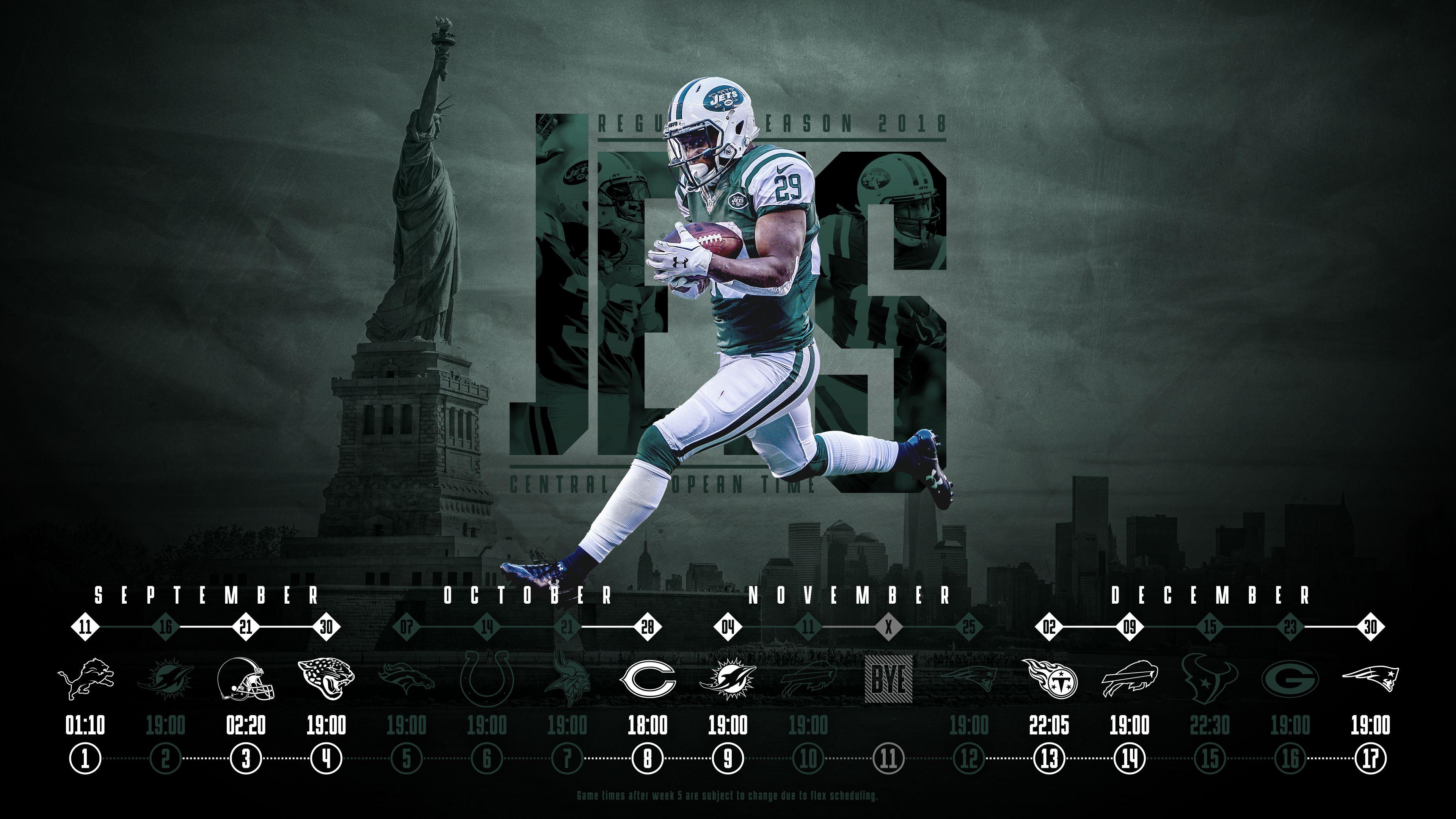 Schedule Wallpaper For The New York Jets Regular Season New