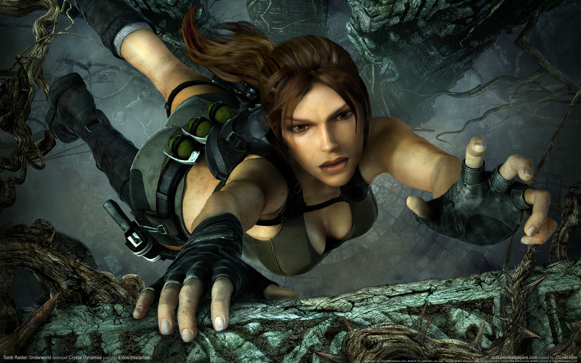 Tomb Raider Underworld Wallpaper - Lara Croft Tomb Raider Game Hot , HD Wallpaper & Backgrounds