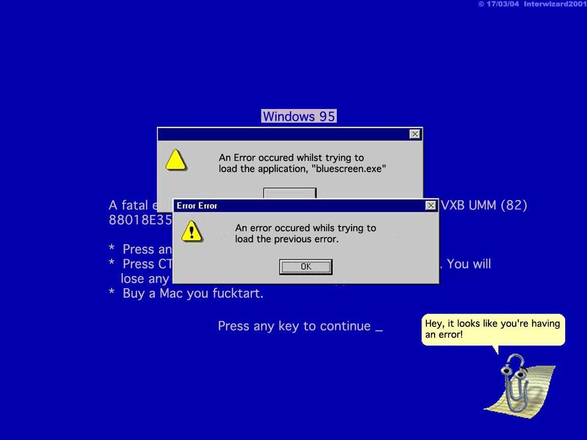 Blue Screen Of Death Wallpaper 1152x864 Blue Screen Of Death