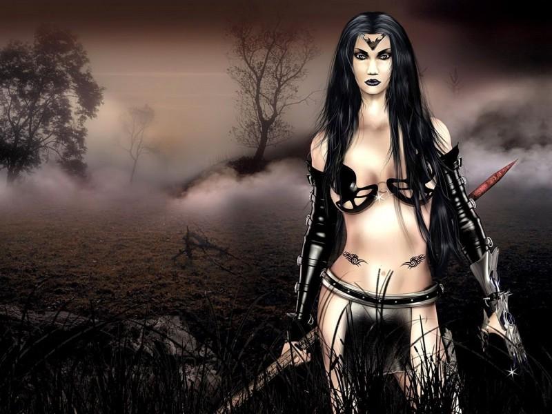 3d Fantasy Girl Wallpaper - Dark Fantasy Girl , HD Wallpaper & Backgrounds