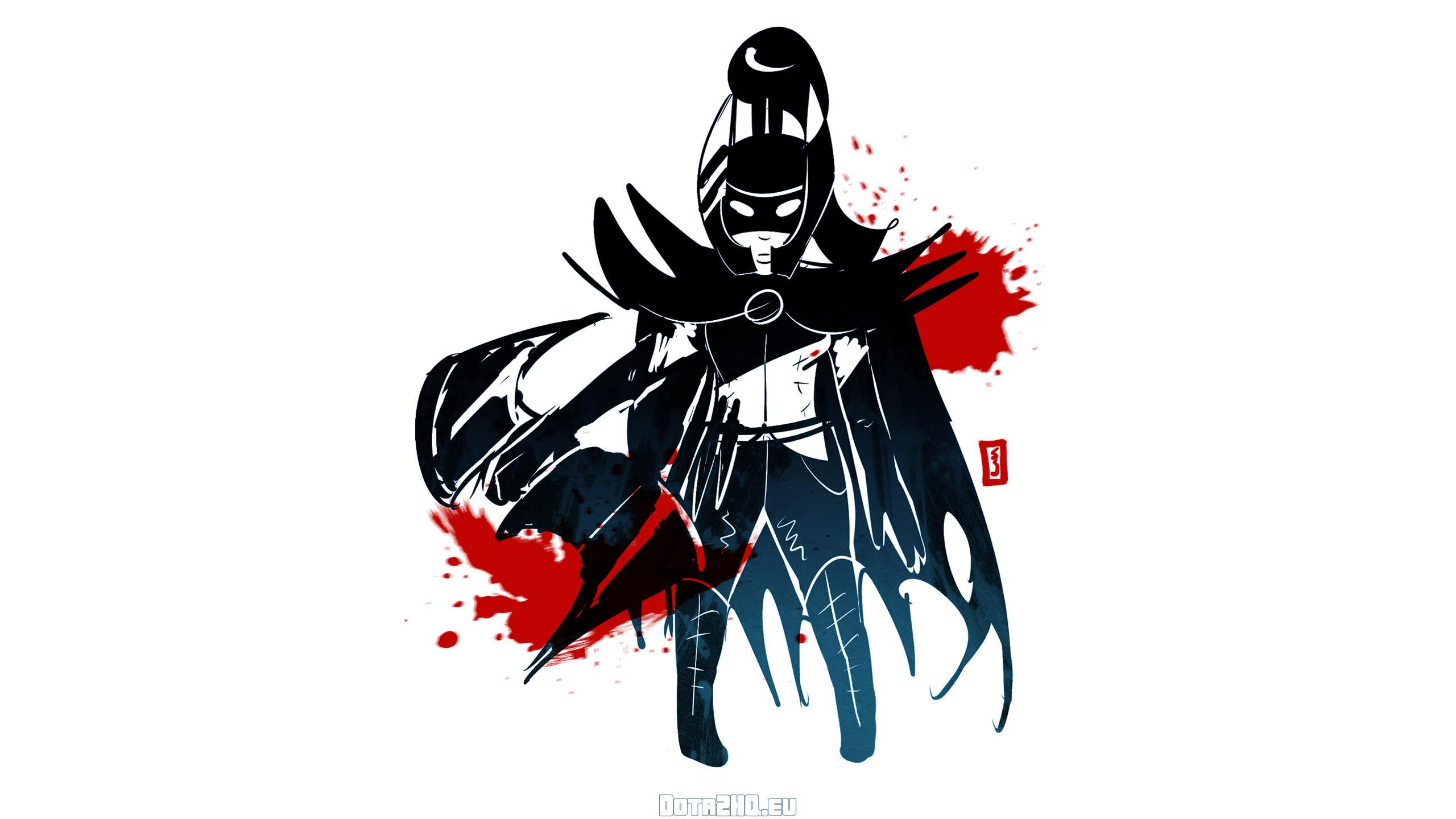 Phantom Assassin, Dota 2, Simple Art - Dota 2 All Heroes Wallpaper Hd , HD Wallpaper & Backgrounds