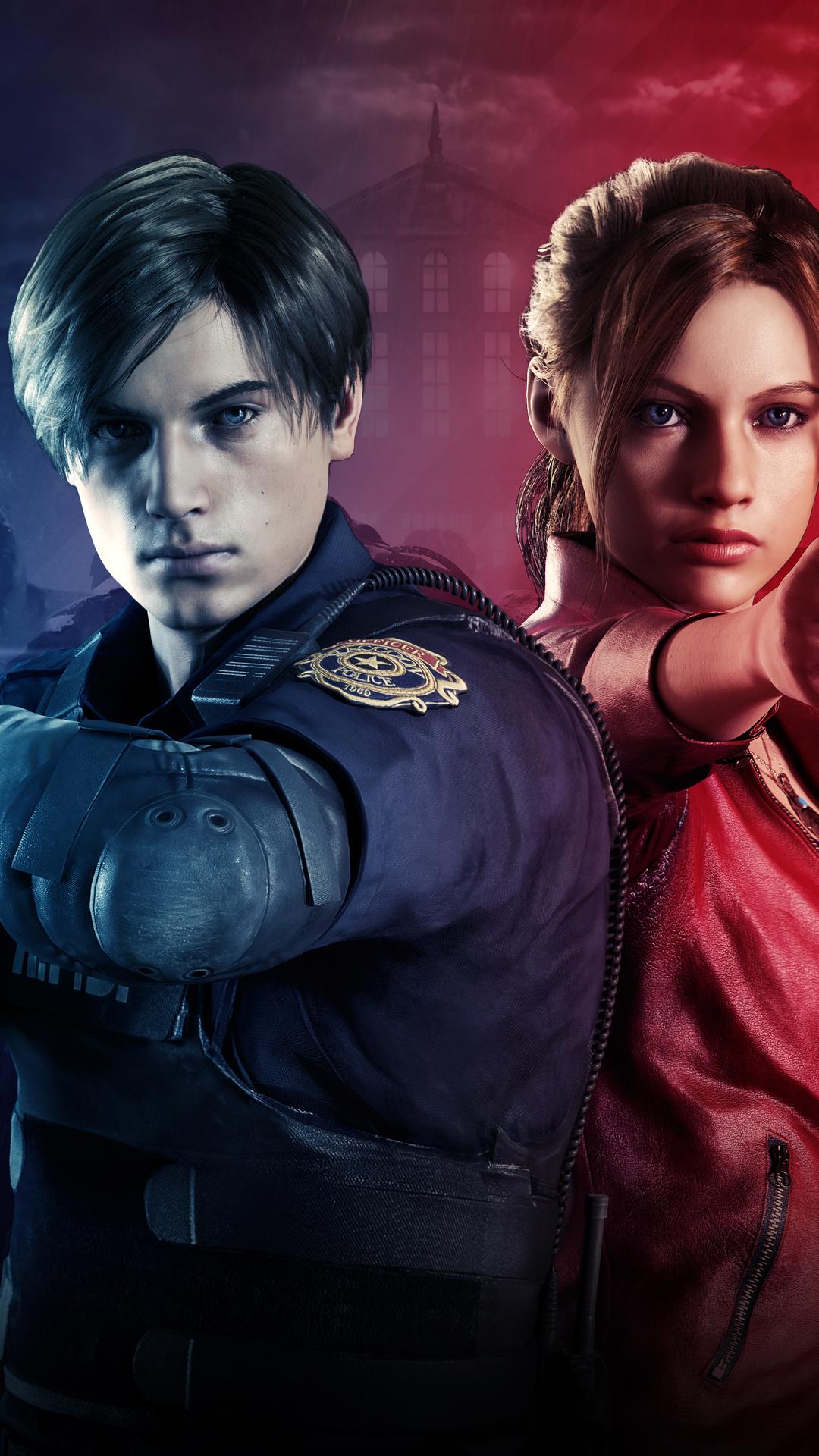 Claire Redfield Leon Resident Evil 2 Wallpaper Resident Evil