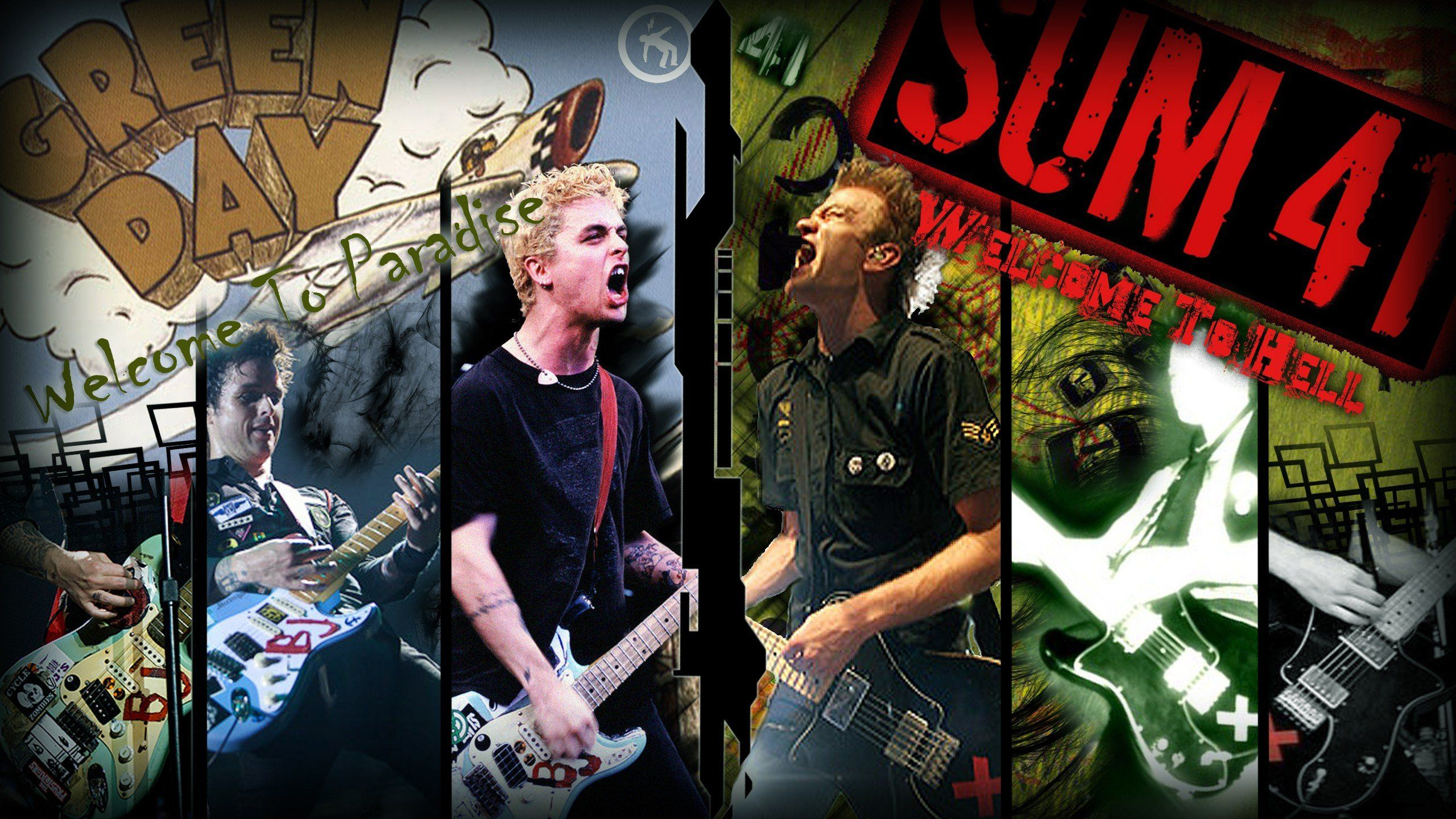 Rise Against Green Day And Sum 41 1574842 Hd Wallpaper