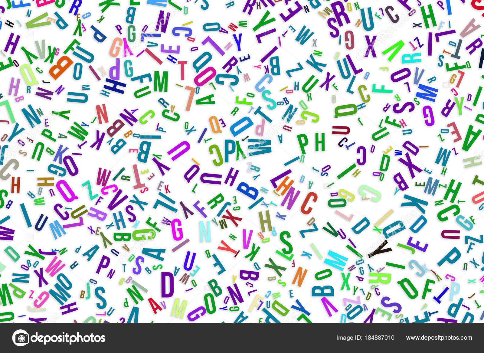 Colorful Blur Alphabets Letters From A To Z Word Letter