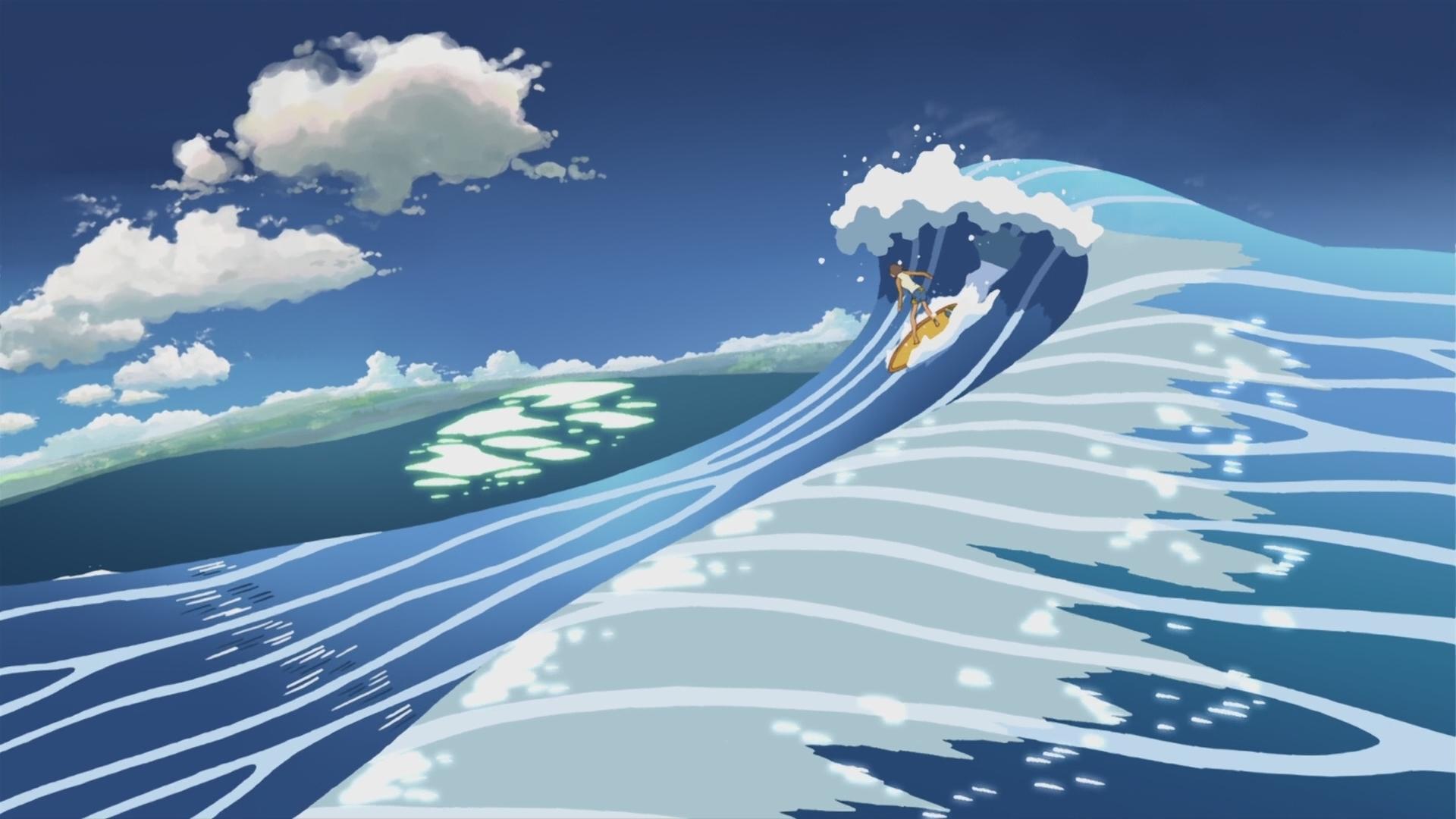 Surfing Makoto Shinkai 5 Centimeters Per Second Artwork - 5 Centimeters Per Second Surf , HD Wallpaper & Backgrounds