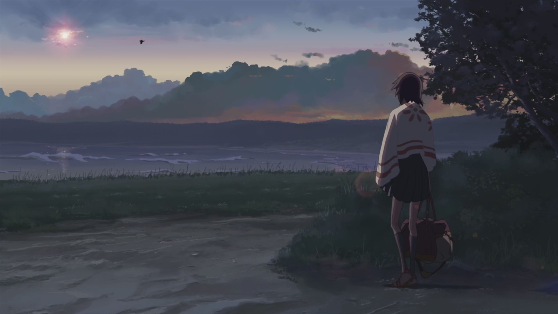 Free Download 5cm Per Second Wallpaper Lovely Iphone - 5 Centimeters Per Second Beach , HD Wallpaper & Backgrounds