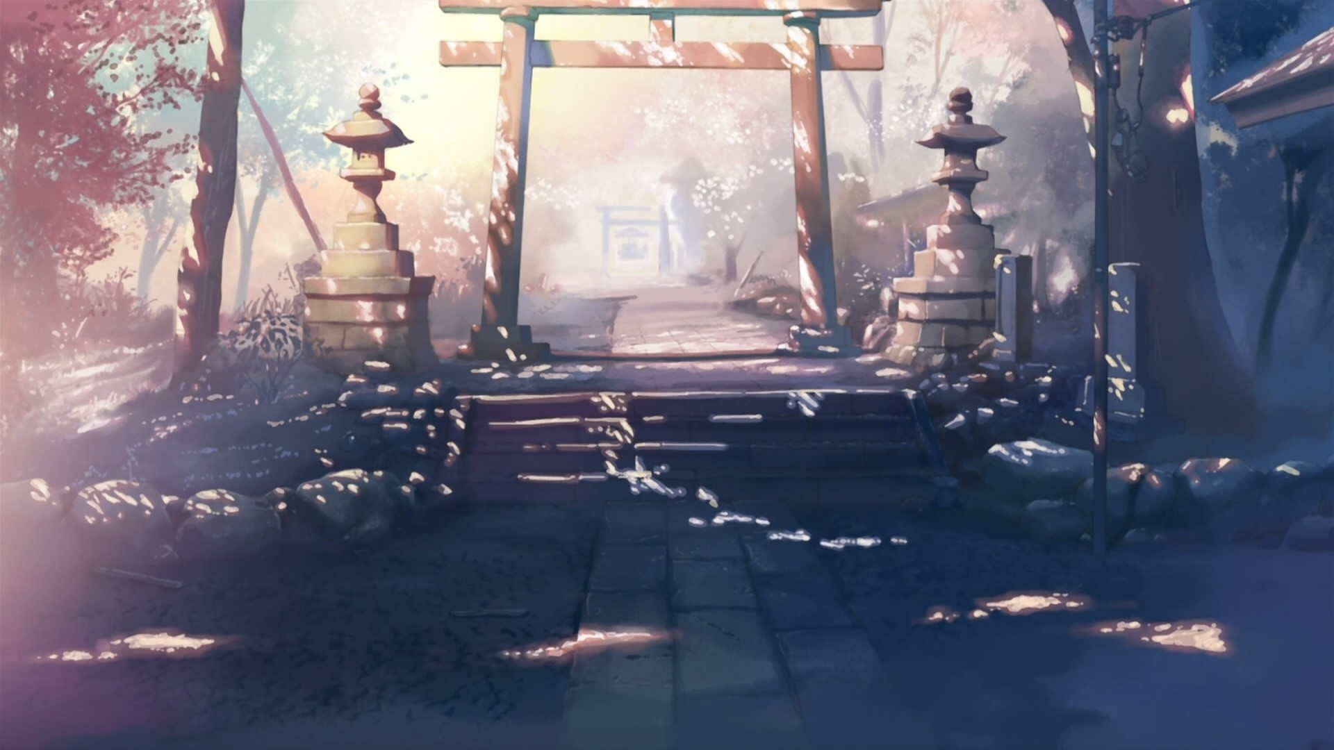 Entrance To The Garden In The Anime Five Centimeters - 5 Centimeters Per Second Places , HD Wallpaper & Backgrounds