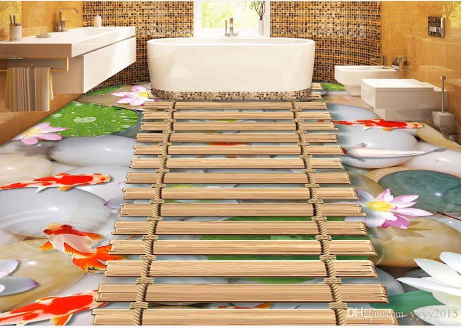 158 1582515 3d wallpaper for bedroom chinese style fish pond