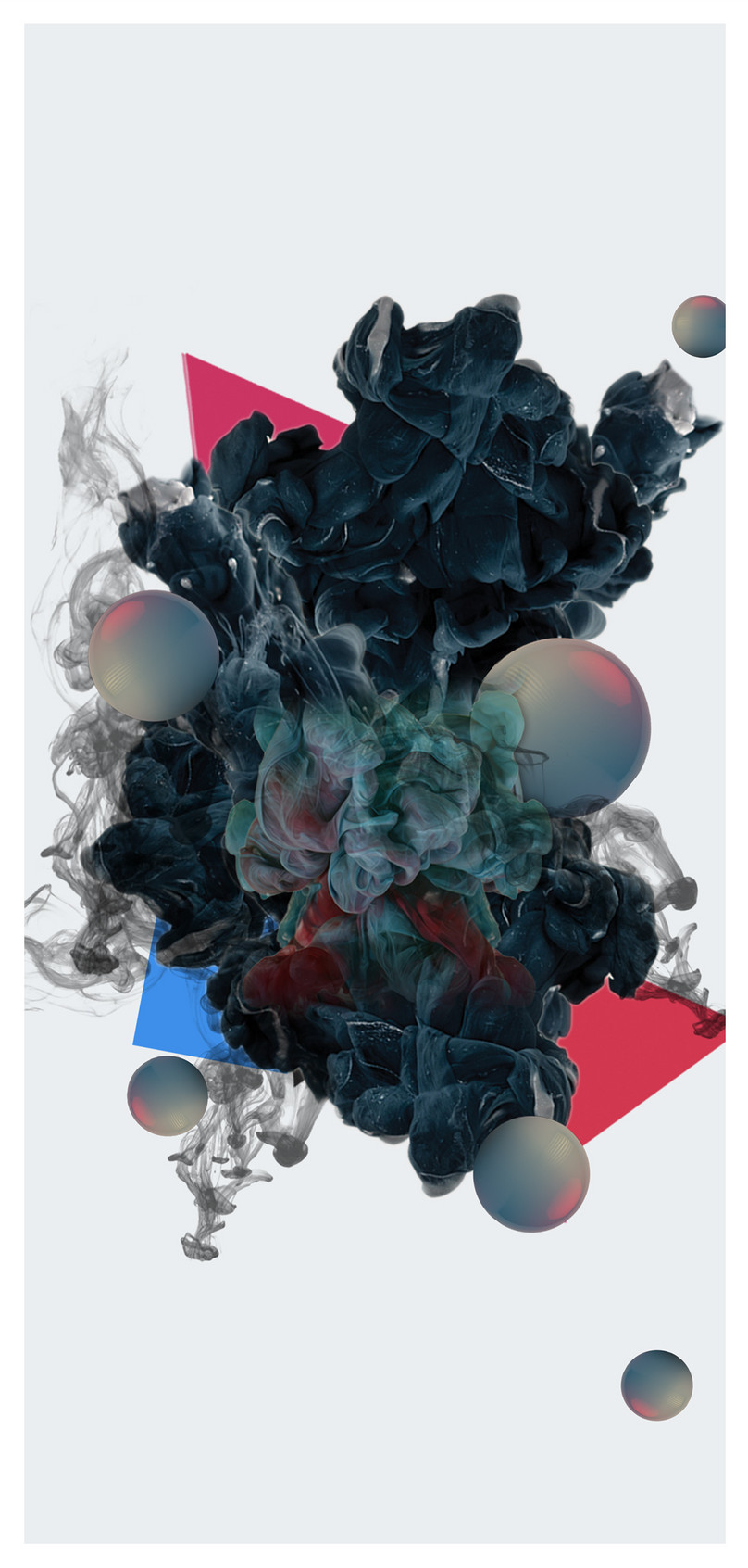 Abstract Black Smoke Mobile Wallpaper Abstract Black
