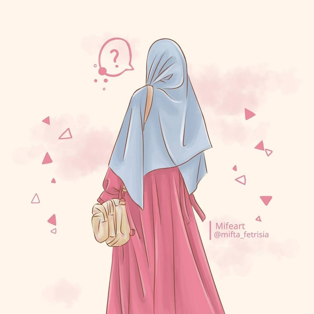 Islamic Quotes Wallpaper Hijabi Girl Girl Hijab Gambar Kartun