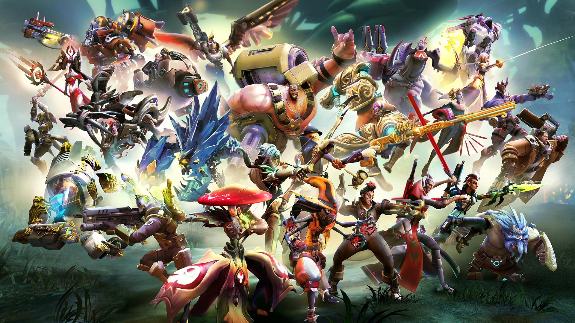 Battleborn Hd Wallpaper Battleborn Characters 1589298 Hd Wallpaper Backgrounds Download