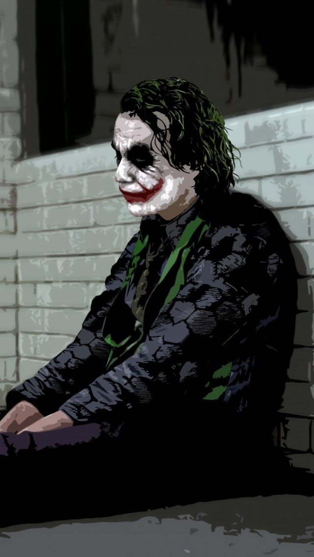 Download Jocker, Boring Wallpaper - Joker The Dark Knight Cover , HD Wallpaper & Backgrounds