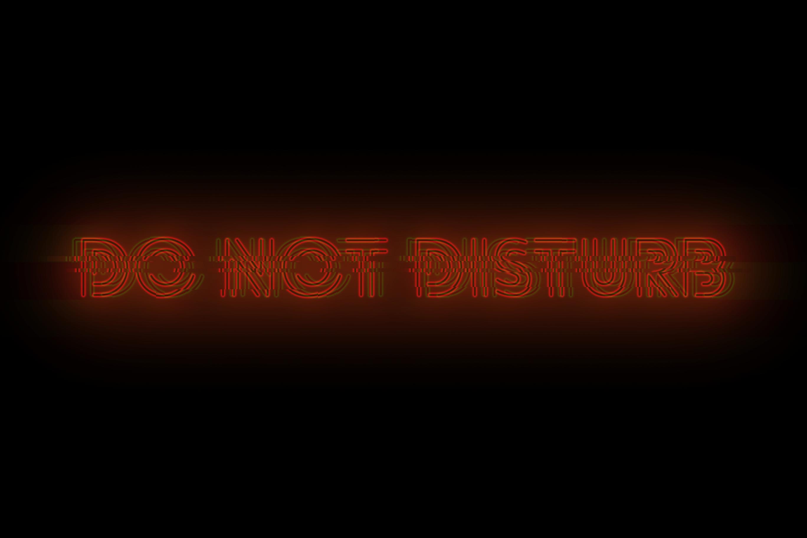 Do Not Disturb [oc] [2736x1824] - Darkness , HD Wallpaper & Backgrounds