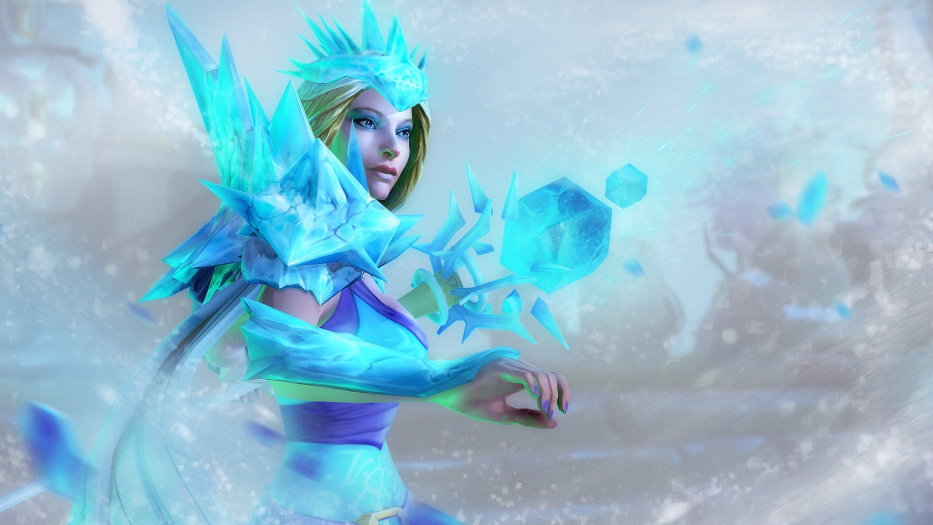Crystal Maiden Wallpapers Dota2 - Dota 2 Crystal Maiden Hd , HD Wallpaper & Backgrounds
