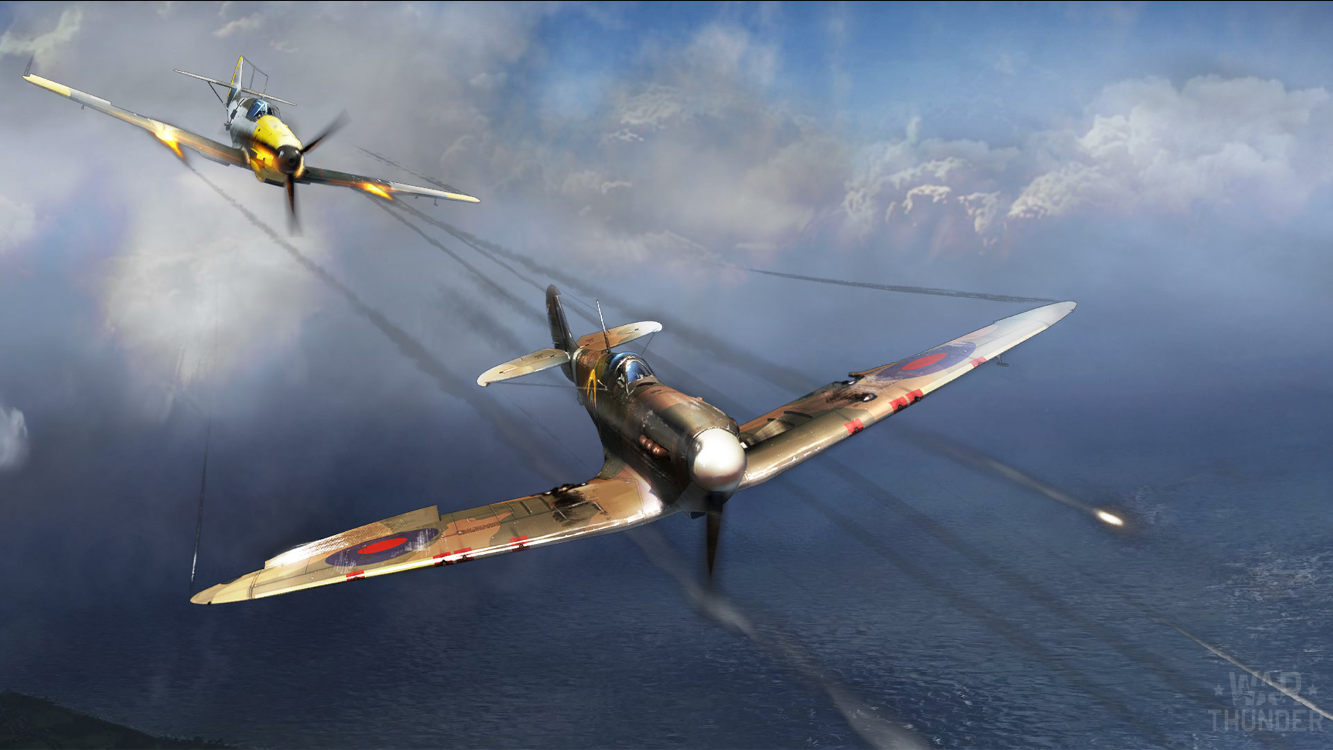 War Thunder Spitfire Mk 1 And Bf 109 E 3 War Thunder