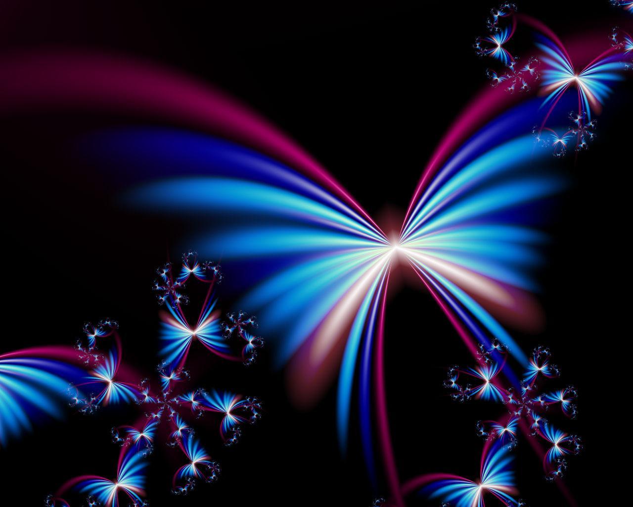 Free Butterfly Desktop Backgrounds - Beautiful 3d Hd Butterfly , HD Wallpaper & Backgrounds