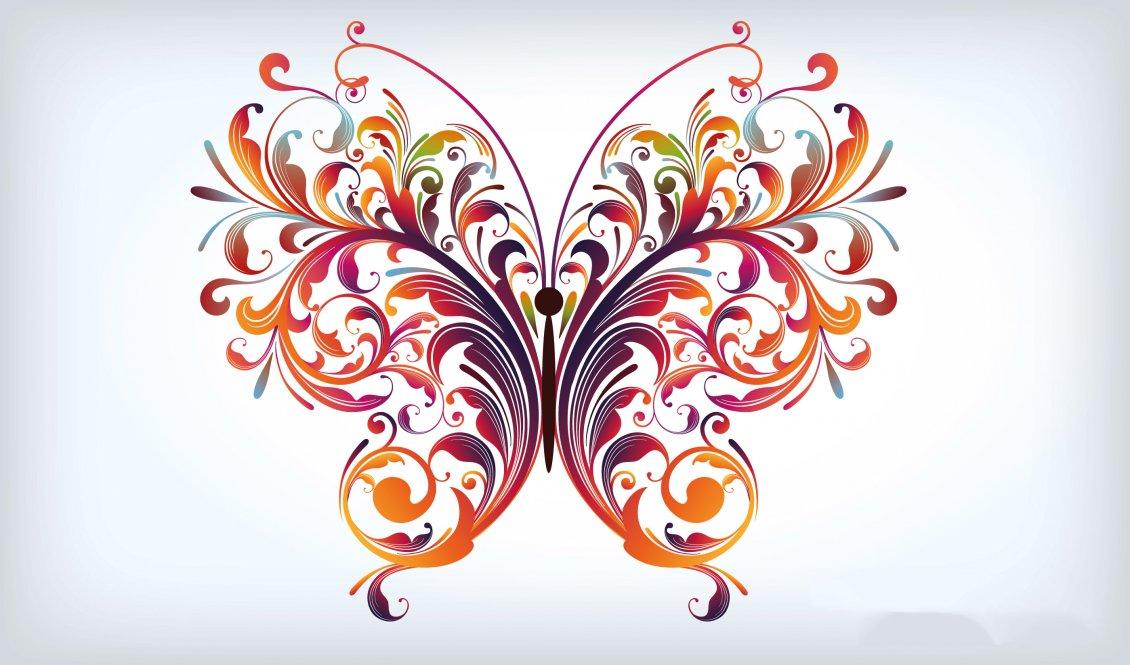 Download Wallpaper A Beautiful Graphic Design - Graphic Design Butterfly , HD Wallpaper & Backgrounds