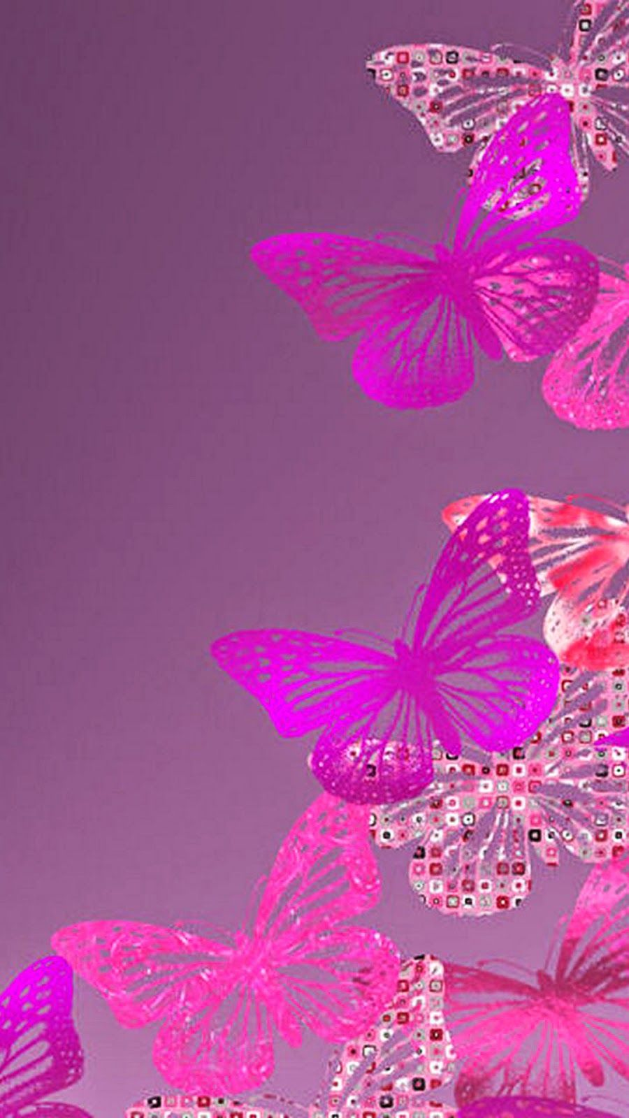 Free Butterfly Wallpaper , Pink Hd Wallpaper For Iphone 6