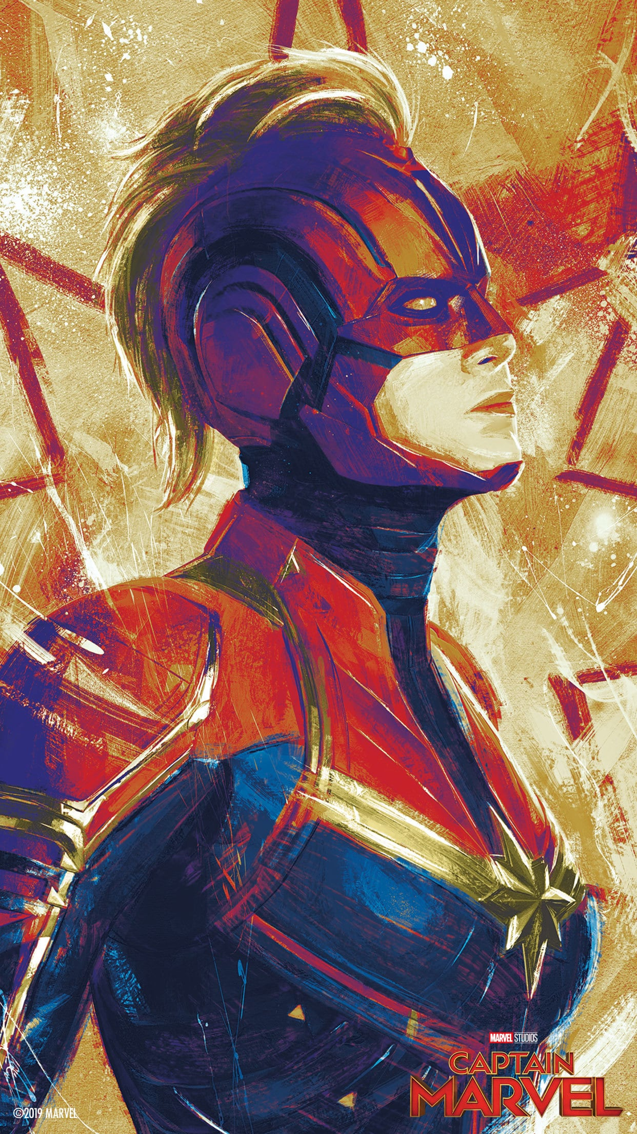 Click Here To Download - Captain Marvel Promo Poster , HD Wallpaper & Backgrounds