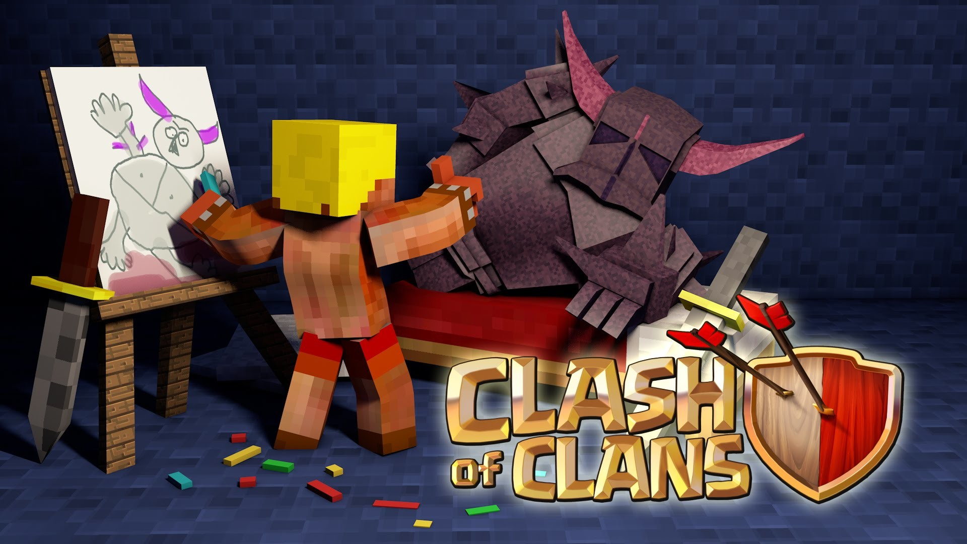 Clash Royale Wallpaper Collection Clash Of Clans Pekka Minecraft