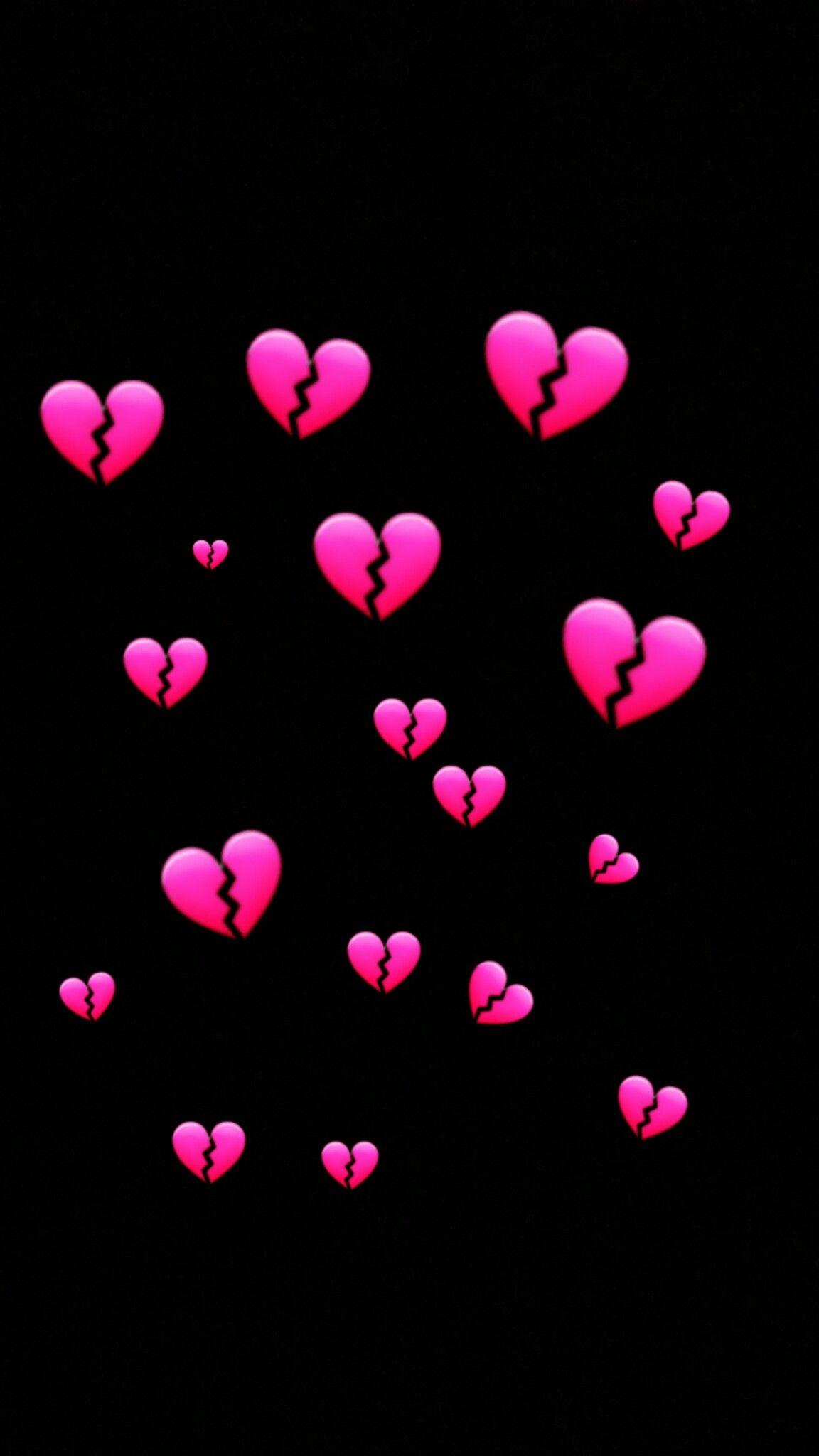 Wallpaper Heartbroke Emoji Wallpaper Heart Wallpaper Heart