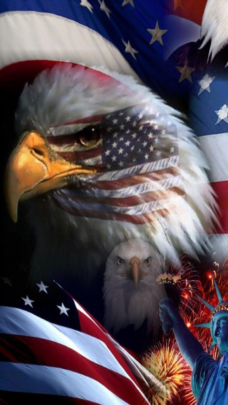 Wallpaper Of The Day - American Eagle Usa Flag , HD Wallpaper & Backgrounds
