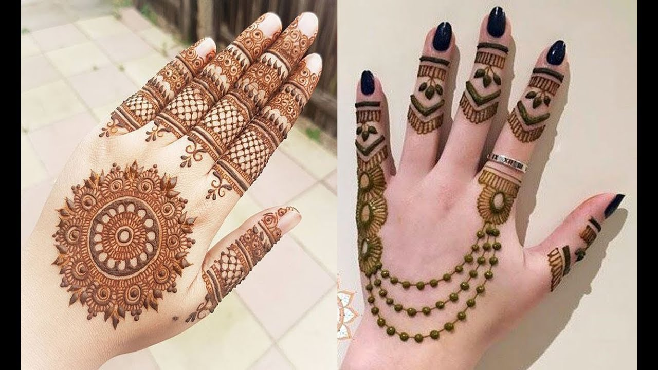 Quick And Easy Mehndi Henna Designs For Hands - Simple Easy Mehndi Design , HD Wallpaper & Backgrounds