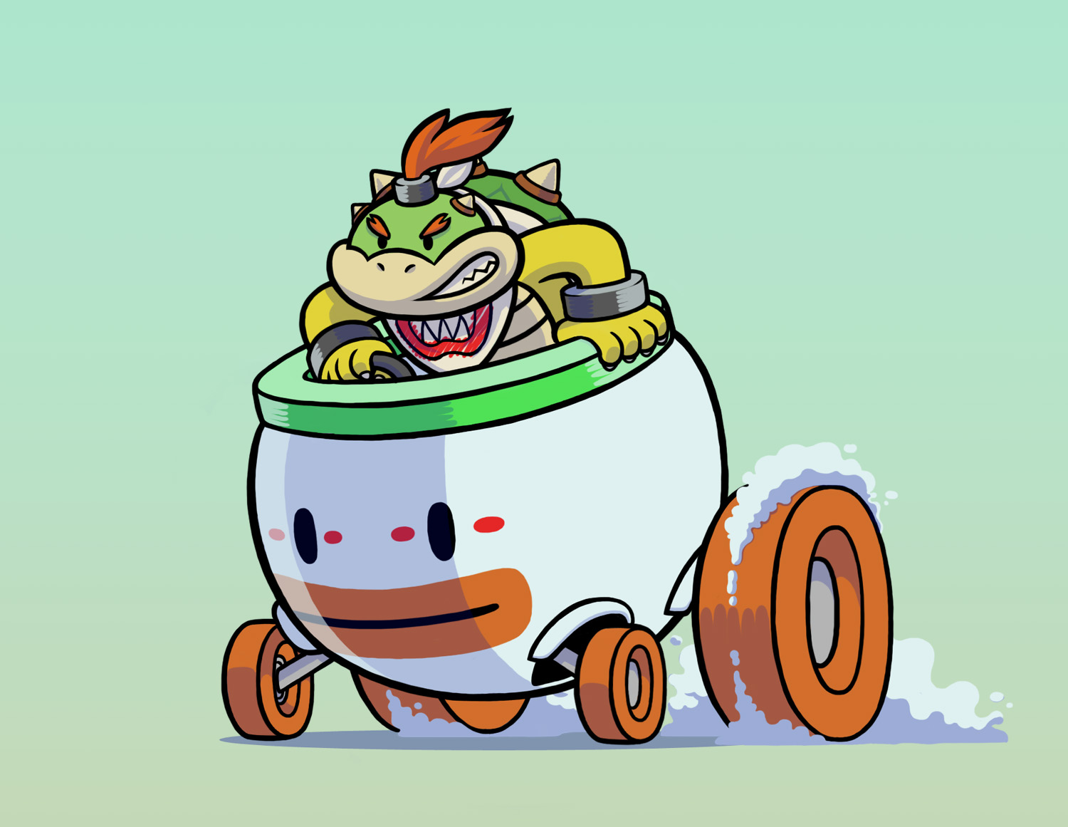 Imagemy Concept For Bowser Jr Mario Kart 8 Koopa Clown