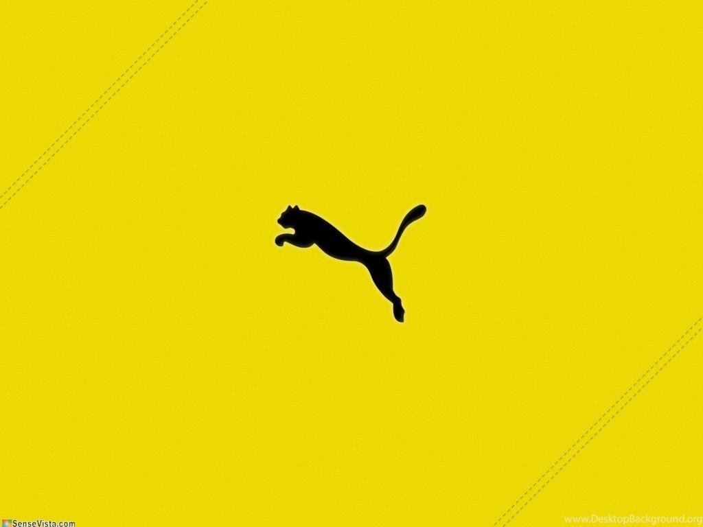 Puma Logo Wallpapers Hd Backgrounds - Puma Logo Gold , HD Wallpaper & Backgrounds