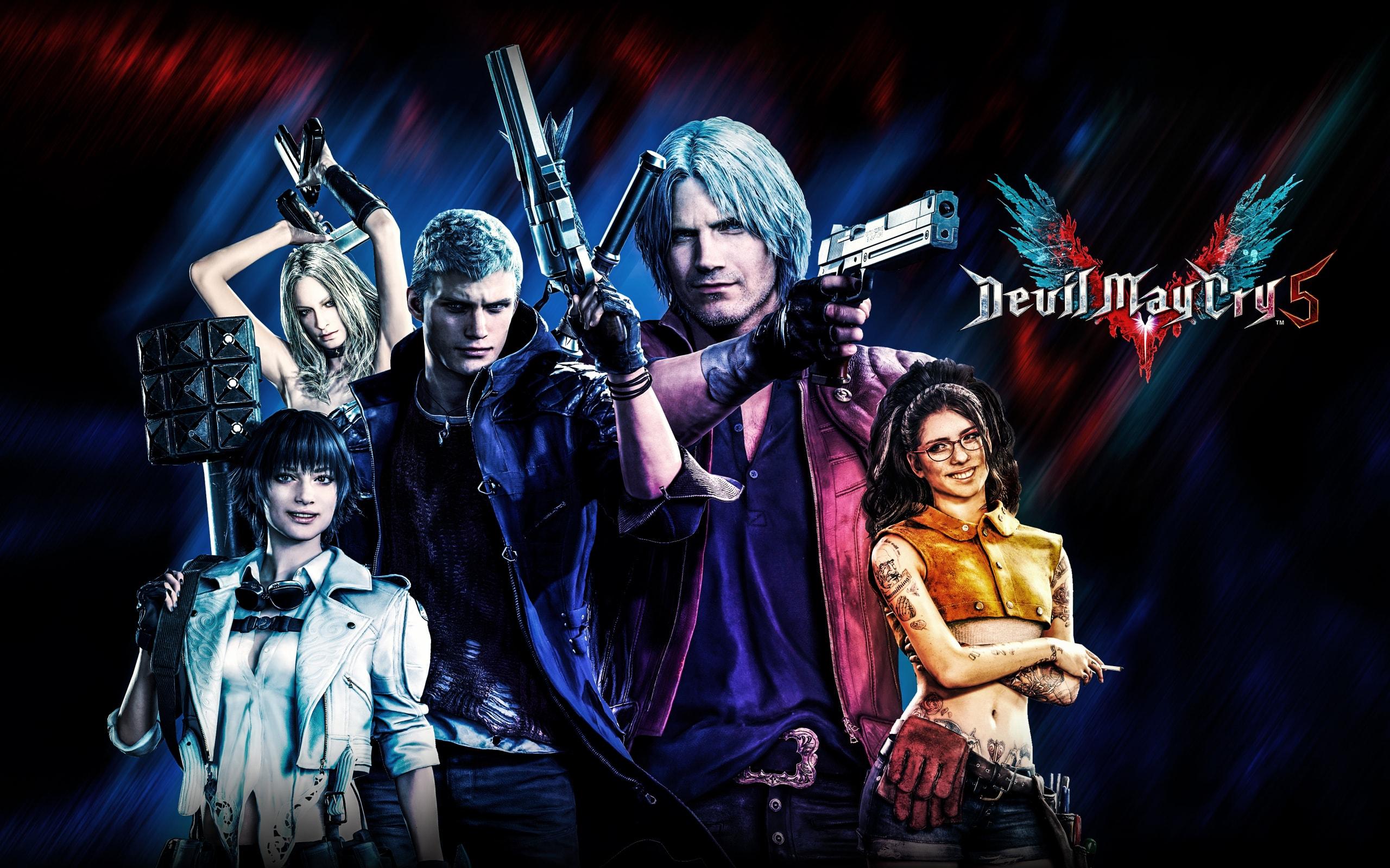 Wallpaper Of Devil May Cry 5 Dante Lady Nero Nico Devil May