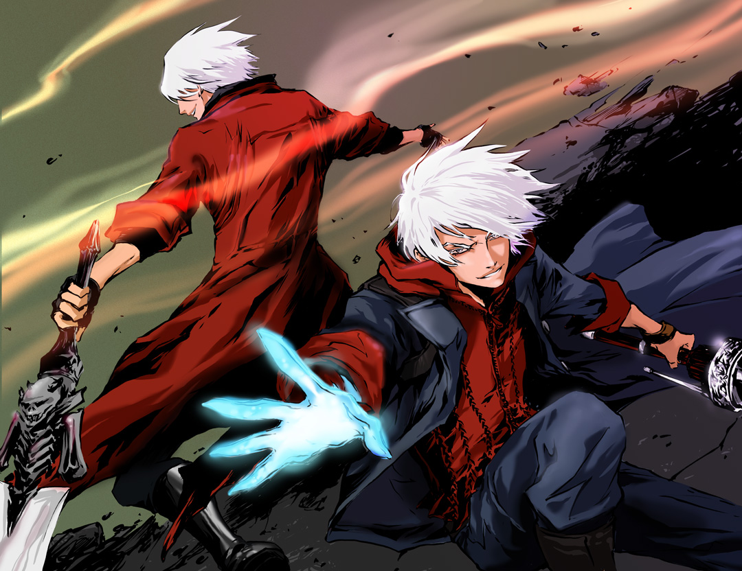 Nero And Dante Devil May Cry 4 Wallpaper Anime Devil May Cry 4