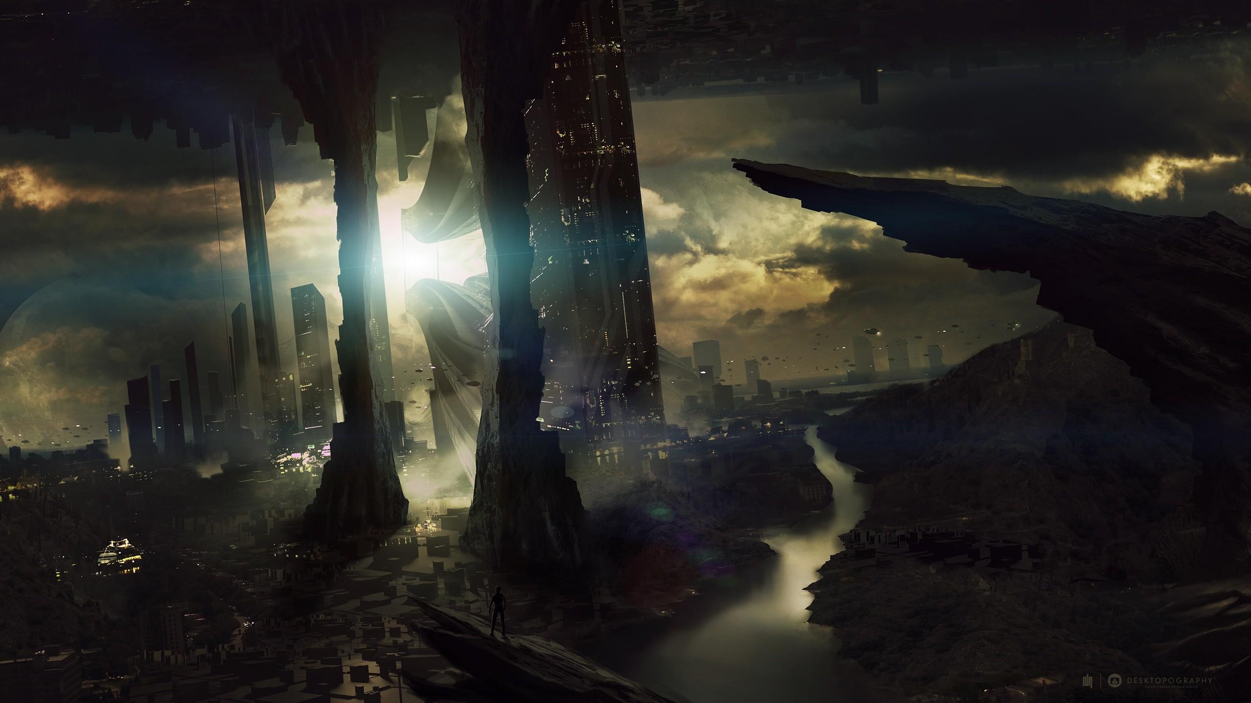 Awesome Fond Decran Gratuit Science Fiction Hd Wallpaper Future City Wallpaper 1080p 1609425 Hd Wallpaper Backgrounds Download