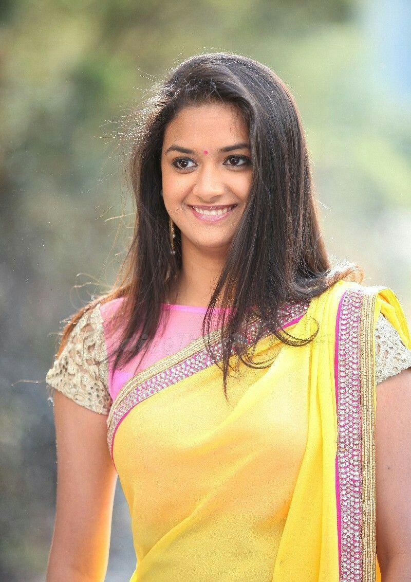 Keerthy Suresh Sweet Hd Wallpaper & Images - Keerthi Suresh Half Saree , HD Wallpaper & Backgrounds