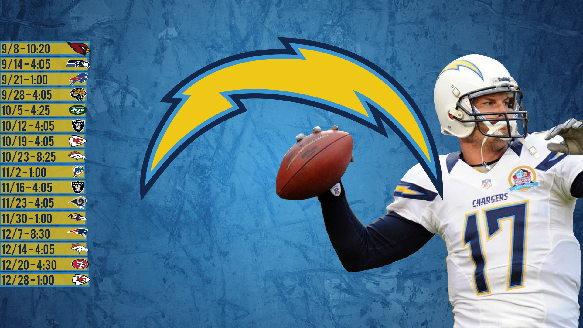 Just Made A Chargers Wallpaper With The 2014 Scheduled San Diego