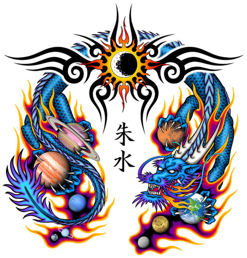 Chinese Dragon Tattoo Wallpaper Chinese Lion Dragon Tattoo