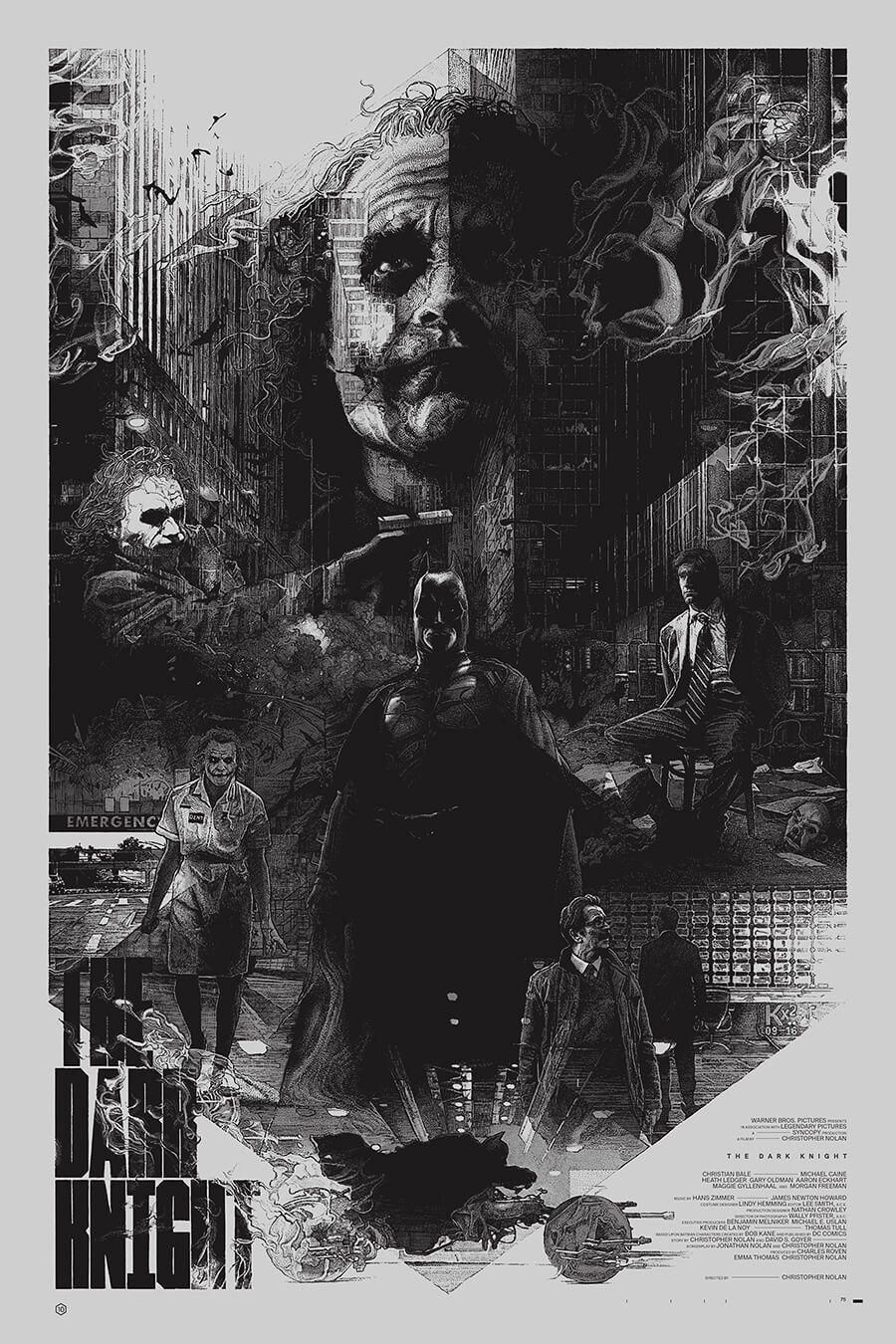 Chris Nolan - Dark Knight Poster Art , HD Wallpaper & Backgrounds