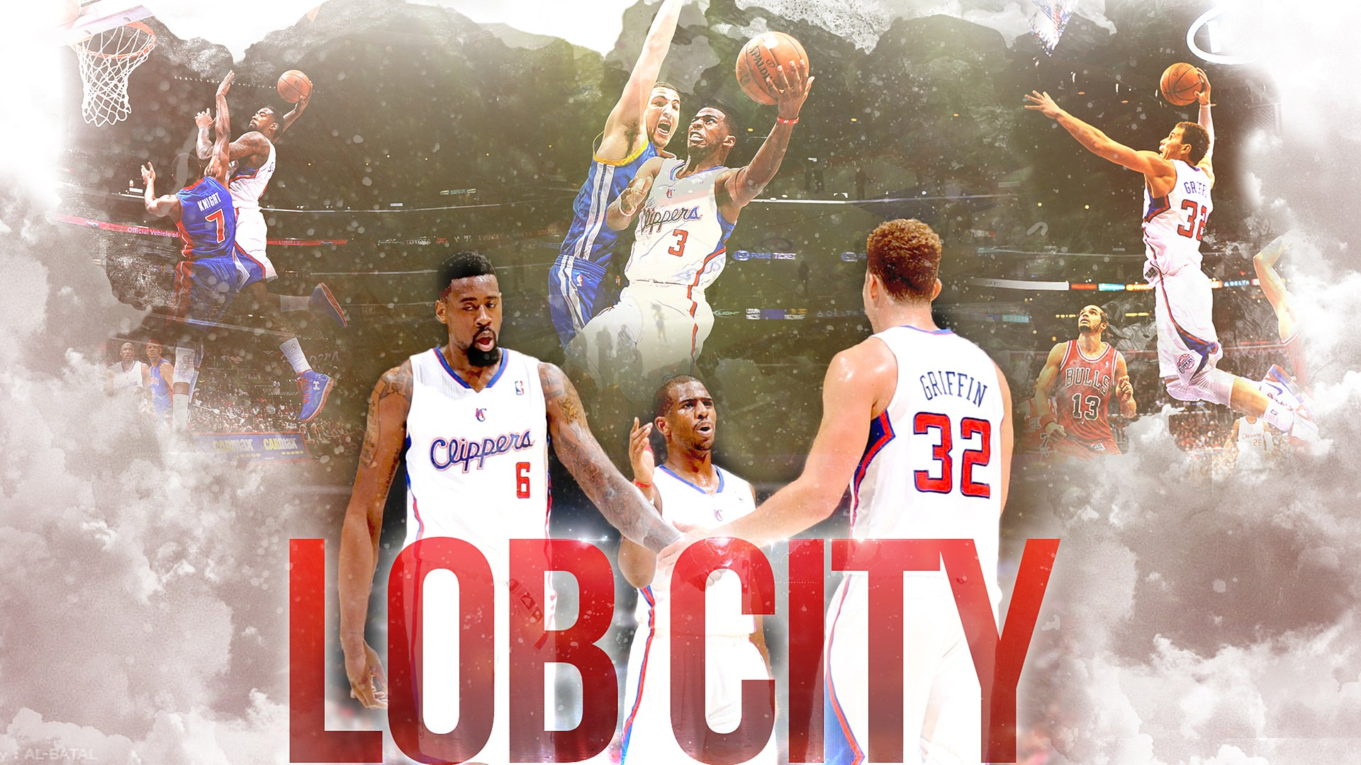 Los Angeles Clippers Deandre Jordan Chris Paul Blake - Los Angeles Clippers Edit , HD Wallpaper & Backgrounds