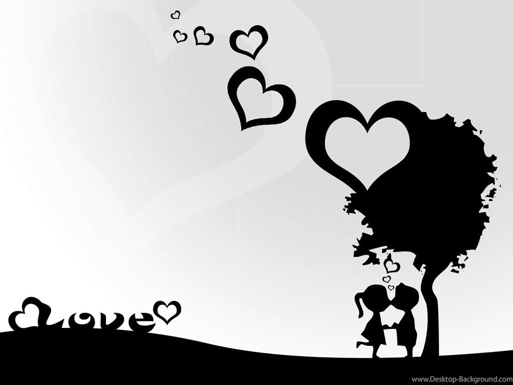 Love Black And White Sweet Cute Love Wallpaper Love
