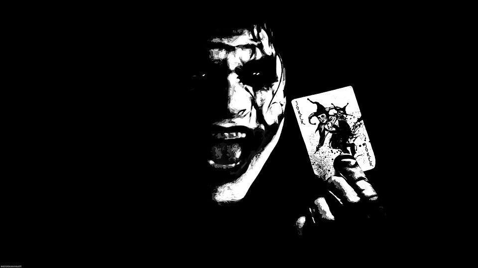Black Image Joker Wallpaper Black And White 1631383 Hd