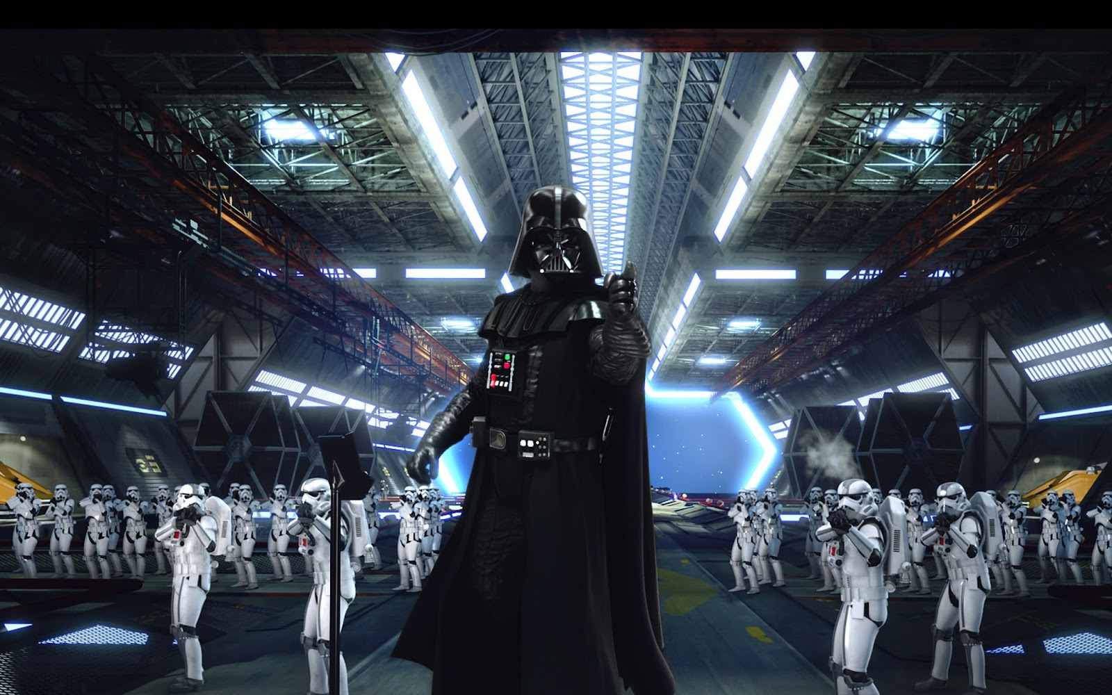 Darth Vader And Clone Troopers , HD Wallpaper & Backgrounds