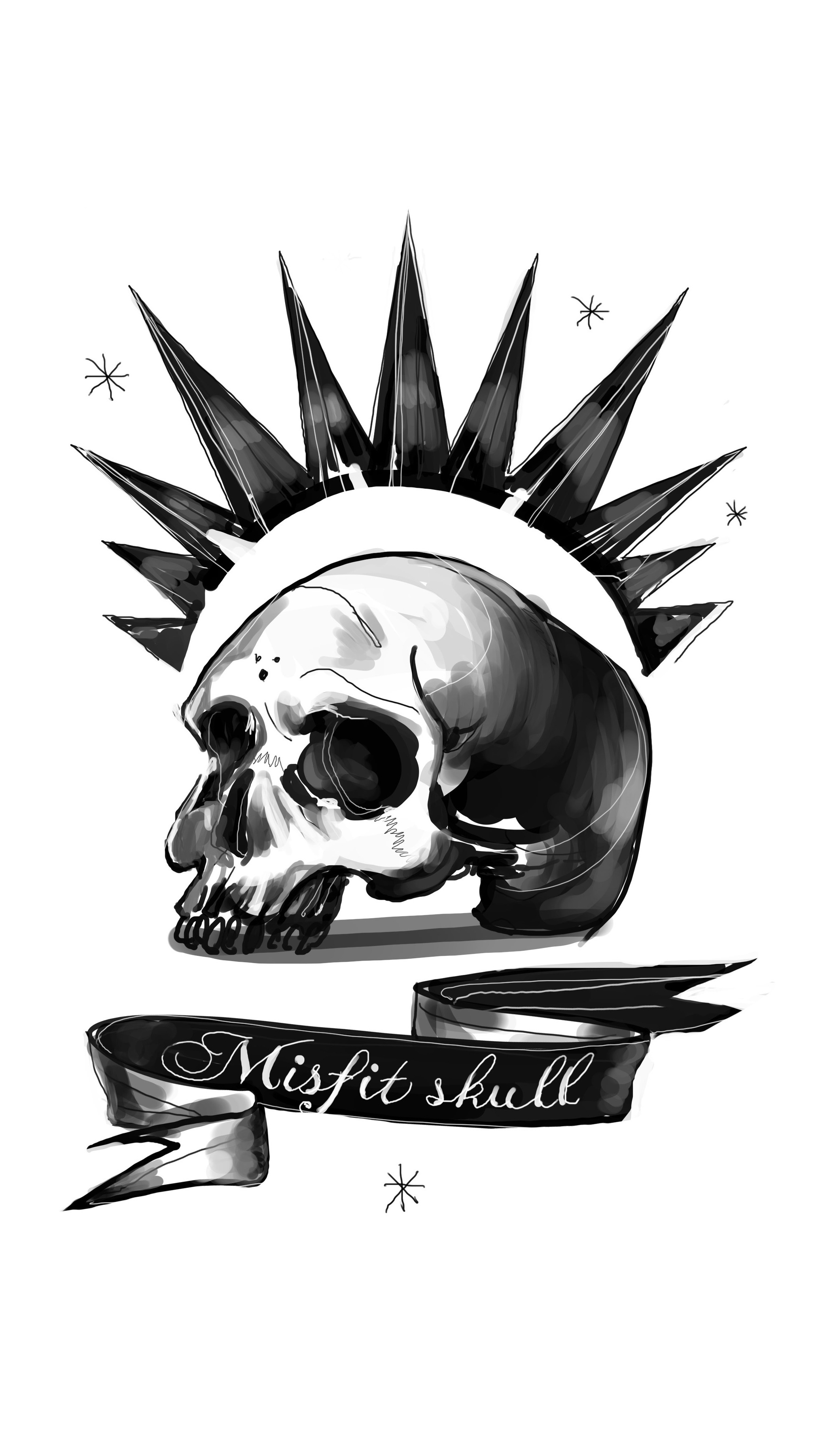 No Spoilers Made A Misfit Skull Mobile Wallpaper Life Is
