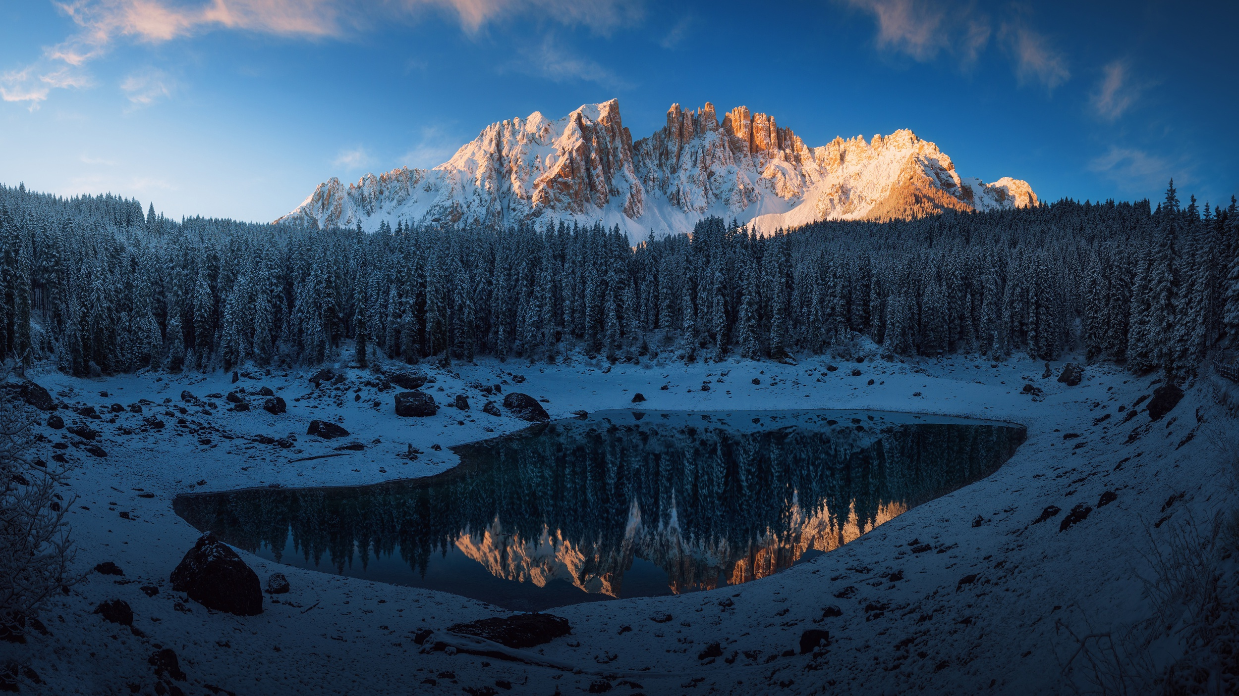Trees Dolomites Nature Landscape Forest Lake